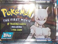 1998~1999~Topps~Pokemon~ash~pikachu~Animation~movie~Trading~Cards~card~pack~box!