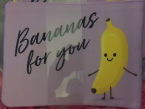 Superdrug Purple Make up/Cosmetic Bag with logo......Bananas for You !!