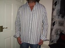 SAVILE ROW LIMITED EDITION STRIPED LONG SLEEVE SHIRT 17 INCH NECK