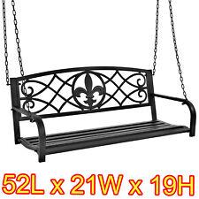 Hanging Porch Swing Bronze Outdoor Furniture Bench Deck Back Yard Garden Patio