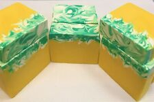 Handmade All Natural Healthy Soaps-Lemontastic Lemongrass