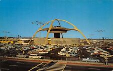 Los Angeles California 1967 Postcard International Terminal Skyhigh Restaurant