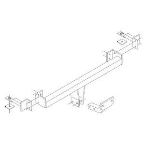 PCT Towbar for Fiat Panda 2004-2012 - Fixed Flange Tow Bar