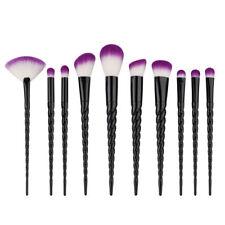 10pcs Unicorn Spiral Makeup Brushes Set Eyeshadow Powder Brushes kit Face Powder