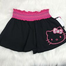 Girl's Hello Kitty Fashion Shorts BLACK PINK SPARKLY NEW MSRP $26 NWT SIZE 6