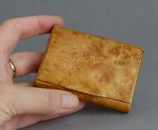 Vintage/Antique BURR Burl WALNUT SNUFF BOX