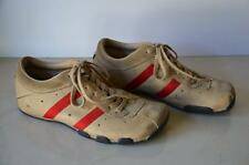 Mens Vtg DIESEL Wish Tan & Red Leather & Suede Retro Sneakers Shoes! size 7.5