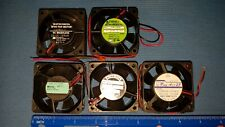 Lot Of 5, 12Vdc, 60x60x25Mm, Server Quality Axial Fans (See Individual Specs)