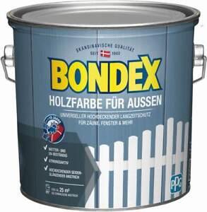 BONDEX Holzfarbe für Außen, 2,5l, Langzeitschutz, hochdeckend, wetterschutz
