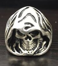 Solid Silver Skull Ring 925 Antiqued W Great Details Size 12 Nt Scrap New Biker