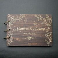 Personalized Rustic Wedding Guestbook Engagement GuestBook Anniversary Sign Book