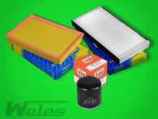 SERVICEPAKET OPEL CORSA C 1,4 1,8 COMBO 1,6 Luftfilter Ölfilter Pollenfilter