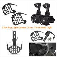 2 Pcs Black Aluminum LED Fog Light Lamp Guards Cover For BMW R1200GS ADV F800GS