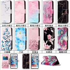 Cute Granite Marble Pattern Leather Flip Wallet Cards Case Cover for Cell Phones