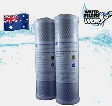 """2 X COCONUT CARBON 5 MICRON REVERSE OSMOSIS PRE FILTERS 10"""" x 2.5"""" UNDERSINK ✅✅✅"""