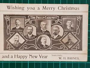 1908 Antique Vintage Political Advertisement W.H. Barnes For Vote Support PC
