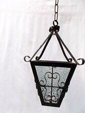 Vintage French Curly Metal Lantern Light, Porch Light, Hall, Conservatory Light