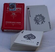 vintage TRIUMPH PLAYING CARDS 52+3 ca. WWII produced for ARMED FORCES