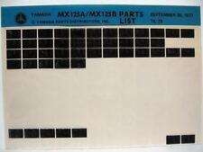 Yamaha MX125 1974 1975 MX125A MX125B Parts List Manual Microfiche m75