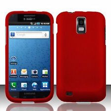 Red Rubberized HARD Case Phone Cover T-Mobile Samsung Galaxy S II 2 S2 T989