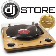 Ion Max LP Conversion Record Player Turntable with Stereo Speakers & Aux Input
