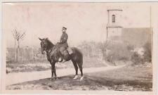 PHOTO ANCIENNE GUERRE 14/18 -HAUT KOENISBOURG (?)-Officier à CHEVAL - ALSACE