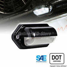 Black 12V DC DOT LED Courtesy/Step Trailer License Plate Tag Light