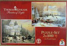 Puzzle Set - Kinkade, Weihnachtsabend + Weihnachtsstimmung - 2 x 1000 Teile