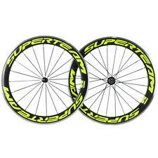 Superteam Alloy Carbon Wheels 50mm Carbon Bike Aluminum Wheelset 700c Clincher
