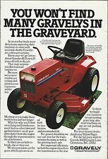 1979 Gravely Lawn Mower advertisement, 8183-T GRAVELY ad, Riding mower tractor