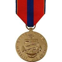 Genuine U.S. FULL SIZE MEDAL: NAVY RESERVE MERITORIOUS SERVICE - 24K GOLD PLATED
