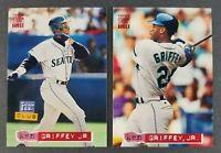 Ken Griffey Jr. (Lot of 2) 1994 Topps Stadium Club Baseball Cards (Sharp)
