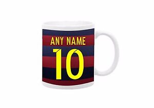 New Barcelona Football Team Personalised Text Any Name Number Birthday Gift Mug