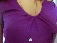 Jaclyn Smith J11 Girls women Sz S Fuchsia top blouse Textured T Shirt NEW