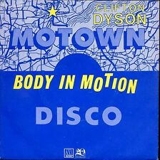 7inch CLIFTON DYSON body in motion MOTOWN HOLLAND 1980 +PS  EX FUNK