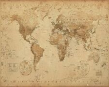 EDUCATIONAL POSTER Antique World Map