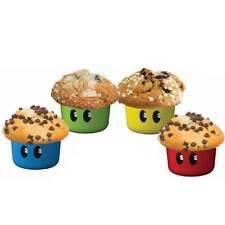 4x Silikon Backform 1UP Cake Cupcake FORM muffin kuchen kuchenform retro - neu