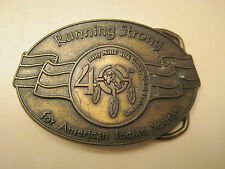 Belt Buckle Brass 40th Anniversary of Billy Mills 10K Gold Medal American Indian