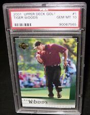 PSA 10 Gem Mint 2001 Upper Deck TIGER WOODS Rookie Golf Card #1 PGA Tour RC