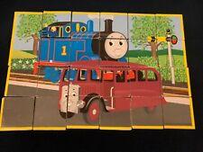 RARE Vintage Thomas Train Tank Engine Puzzle 24 cubes create 6 different puzzles
