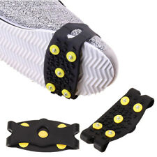 1 Pair 5 Stud Anti Slip Snow Ice Climbing Spikes Grips Crampon Cleat Shoes Cover