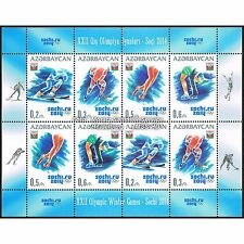 Aserbaidschan Azerbaijan 2014 - Olympische Winterspiele Sotschi, Kleinbogen **