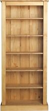 Tall Wide Extra Deep Bookcase - Solid Pine Generously Spacious Storage Area