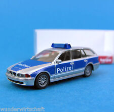 Herpa h0 045711 bmw 5er Touring policía Brandeburgo plata azul OVP turismos ho 1:87