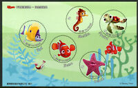 Taiwan 2008 MNH Finding Nemo 5v M/S II Disney Pixar Animation Cartoons Stamps