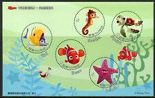 Taiwan 2008 MNH Finding Nemo 5v M/S II Disney Pixar Animation Cartoons Stamps