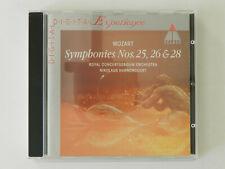 CD Mozart Symphonies No 25 26 28 Royal Concertgebouw Orchestra Harnoncourt