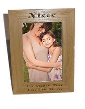Niece legno Photo Frame 6x8-personalizzare questo riquadro-INCISIONE GRATUITA