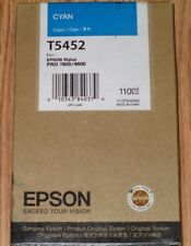 Genuine Epson T5452 Cyan Color Ink for Stylus Pro 7600/9600. 110ml. Deal!
