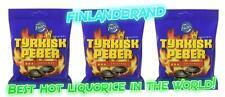 Fazer Tyrkisk Peber 3 x 150g Bags Hot Liquorice Licorise Salmiakki Finland